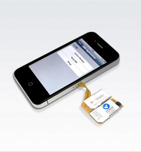 画像1: iPhone4 用 Triplel SIM アダプター付きケース
