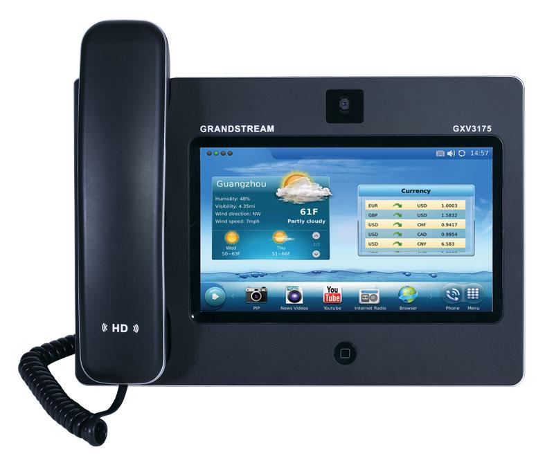 画像1: Grandstream タッチスクリーン IPマルチメディアフォン
